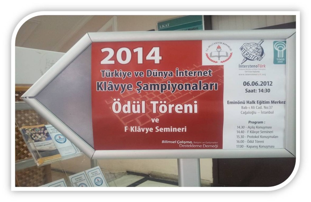 TURKEY AND THE WORLD INTERNET KEYBOARD  CHAMPIONSHIPS